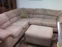 Good condition $425.00 Sofa & Foot Stool (WE Deliver ;