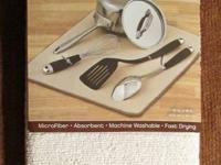 Microfiber Dish Drying Mat by Kitchen Basics, $2. Get