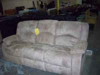 TAN MICROFIBER SOFA SET. BUILT IN RECLINERS!!! NEW!!