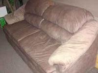 NICE MICROFIBER SOFA NO RIPS NO TEARS NO STAINS NO WEAR