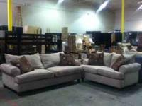 PRE OWNED SOFA SET! THIS SET IS IN GREAT SHAPE! VERY