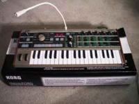 Virtually new microkorg keyboard. comes with A/C