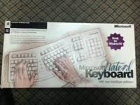 Microsoft Natural Keyboard. Type with your hands and