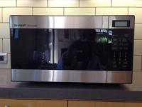 Sharp Carousel Microwave. Model No. R-216FS, stainless