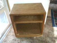 I have a wooden microwave cart which can be used as a