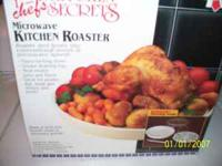 Brand new chefs' secrets Microwave Roaster. Perfect