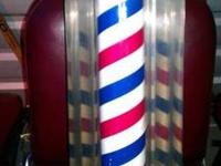 Mid 50's William Marvy Company barber pole. Works