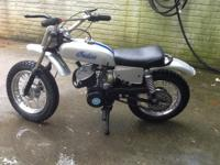 This is a mid 70's Indian M5A This bike has been