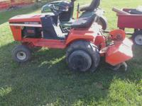 I have a mid 80's T816 (16hp) garden tractor for