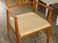 Nice mid century arm side chair. Please call  thank