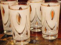 Mid Century Atomic Glass Set (4 glasses).    $20.00