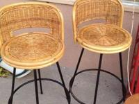 These great bar stools are mid century, look great in