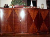 Elegant curved front design, solid wood buffet, made by