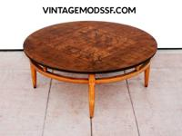 Handsome Circular Coffee Table by Lane Altavista circa