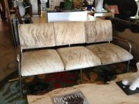 "Mid Century Couch 65"" Wide x 30"" Deep x 30"" High $1600"