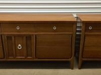 Stunning matching mid century credenza, chest of