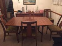 A mid-century dining set from Blowing Rock Furniture