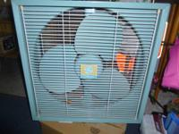 Mid Century GE 3 speed window fan works awesome and  in