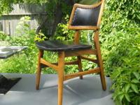 Vintage side chair made mid 20th century in walnut with