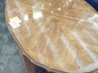 Great quality Thomasville coffee table. Light color