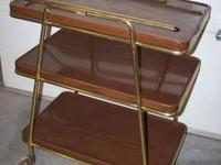 Mid Century Modern Cosco 3 Tier Bar/Serving/Utility