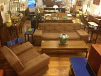 Cool Mid Century Modern Kroehler Sofa & Chair with ALL