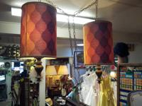 This is a beatiful pair of hanging/swag lamps from the