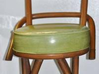 Mid-century--probably late 1940's--large rattan &
