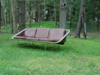 Mid Century Herman Miller Nelson Leather Sling Sofa