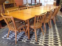 Great Conant Ball Table and 12 chairs. Conant Round