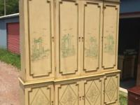 George III Style Breakfront Bookcase/cabinet &