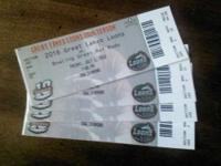 I HAVE A TOTAL OF 8 TICKETS TO THE GREAT LAKES LOONS