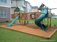 We build beautiful Children's outdoor Wooden Swing Set