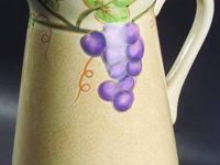 This is a lovely grapevine stoneware pattern, with