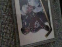 Mike Ricci collector card enclosed in hard plastic.