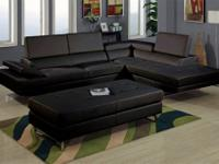 Milan Sectional * Solid wood frame. * Modern and sleek