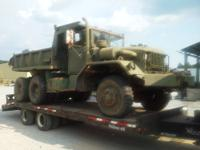 Older model Military 5 ton Dump truck, 6X6 with multi