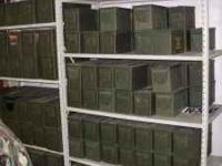 Military green AMMO Cans in great condition inside and