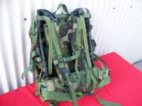 MILITARY BACKPACK U.S.A. WOODLAND CAMO GREEN NEW U.S.