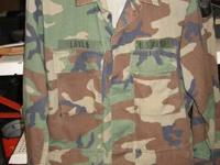 Offering 25 Military Camo BDU t-shirts and 24 pair of