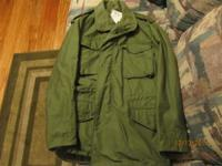 NEW, Never Worn Military Field Coat-Excellent
