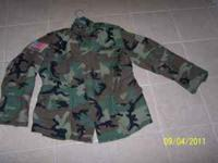 Woodland camo field jacket with Springfield Armory