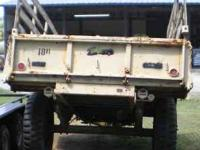 Heavy Duty Military Trailer call  Location: Spartanburg