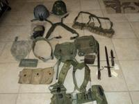 Lots of military Gear and uniforms for sale Bayonts