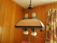 Ceiling Lamp component with Milk Glass and Parchment