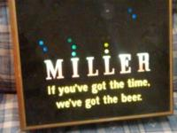 Vintage Miller Beer Sign Light Bouncing Ball Motion