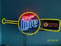 2001 Miller Lite Boston Red Socks Neon Light 2001