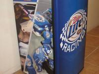 Danby brand refrigerator with Miller Lite racing