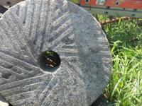 I have a 35.5 inch millstone with a 6 inch center hole.