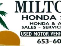 Milton's Honda & Acura Store is a separately,